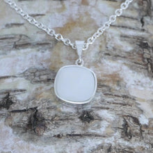 Load image into Gallery viewer, Mother of Pearl silver pendant handmade by designer Andrew Thomson