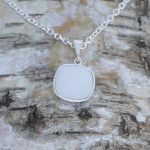 Mother of Pearl silver pendant handmade by designer Andrew Thomson
