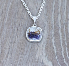 Load image into Gallery viewer, Blue John & Fluorite Silver Pendant
