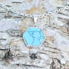 Load image into Gallery viewer, silver turquoise pendant handmade in the UK by designer Andrew Thomson
