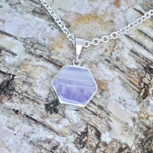 Load image into Gallery viewer, silver amethyst pendant handmade in the UK by designer Andrew Thomson