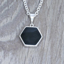 Load image into Gallery viewer, whitby jet pendant handmade in the UK by designer Andrew Thomson