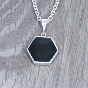 whitby jet pendant handmade in the UK by designer Andrew Thomson