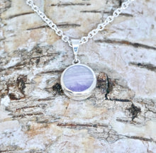 Load image into Gallery viewer, Turquoise & Amethyst Double Sided Round Pendant
