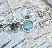 Load image into Gallery viewer, Labradorite & Blue John Double Sided Round Pendant