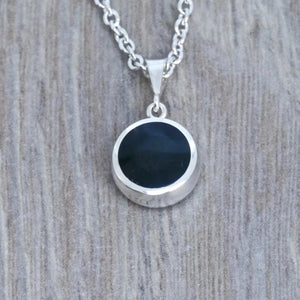 whitby jet pendant in silver handmade in the UK