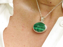 Load image into Gallery viewer, Malachite & Blue John Reversible Pendant Oval