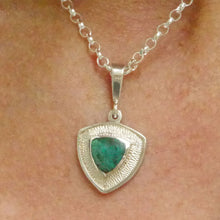 Load image into Gallery viewer, blude jasper silver triangle pendant