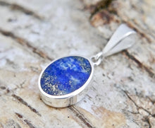 Load image into Gallery viewer, Lapis Lazuli Pendant Oval Design in Silver