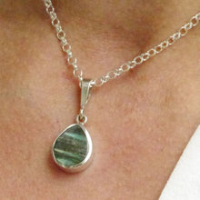 Load image into Gallery viewer, labradorite silver teardrop pendant