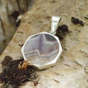 Amethyst and Whitby Jet Reversible Pendant