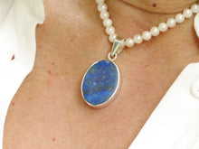 Load image into Gallery viewer, Blue John & Lapis Lazuli Reversible Pendant Oval
