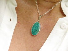 Load image into Gallery viewer, Blue Jasper Silver Pendant Oval