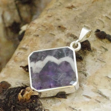 Load image into Gallery viewer, Amethyst Lace and Jet Double Sided Pendant