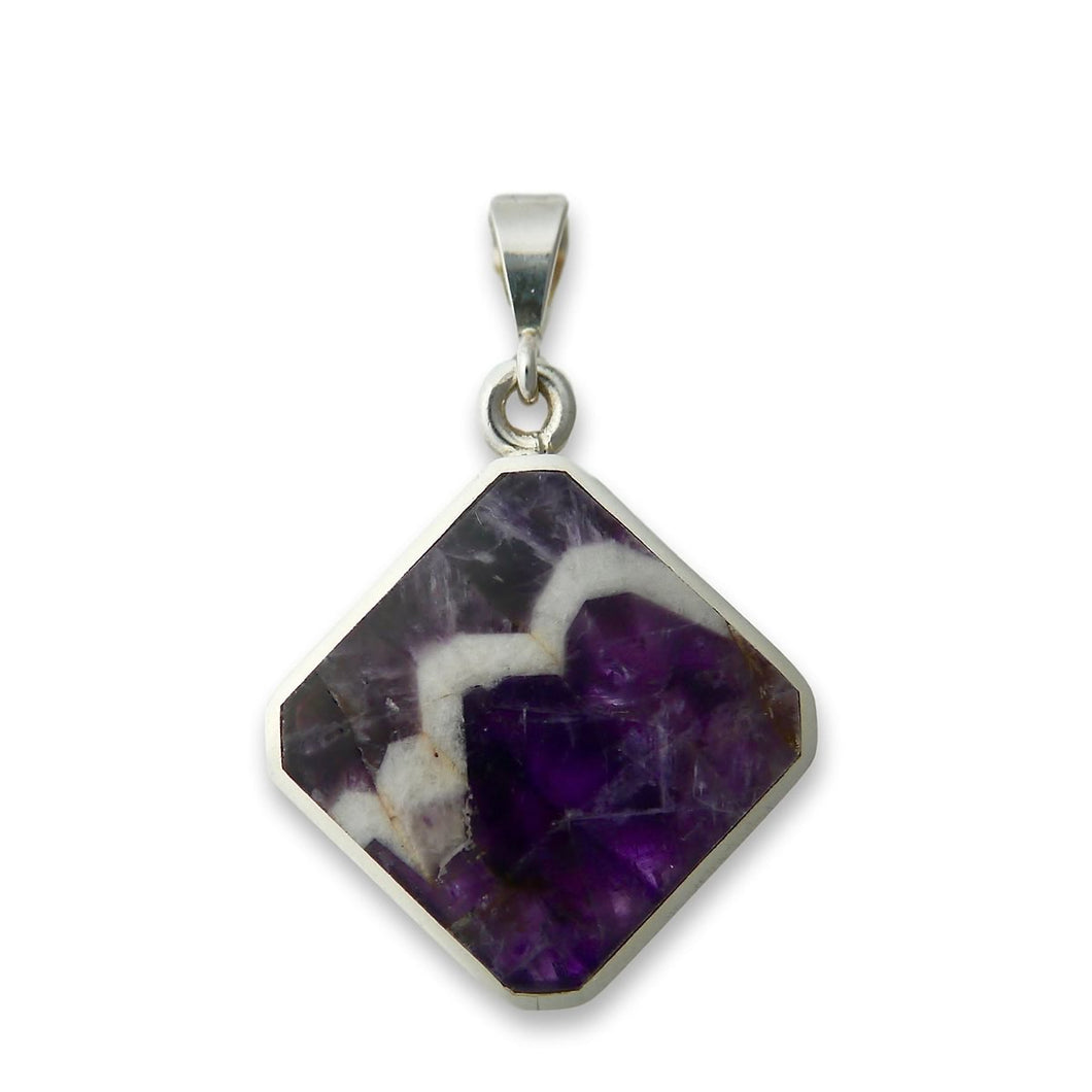 Amethyst Lace and Whitby Jet Pendant by My Handmade Jewellery