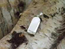 Load image into Gallery viewer, Back of silver bullet pendant