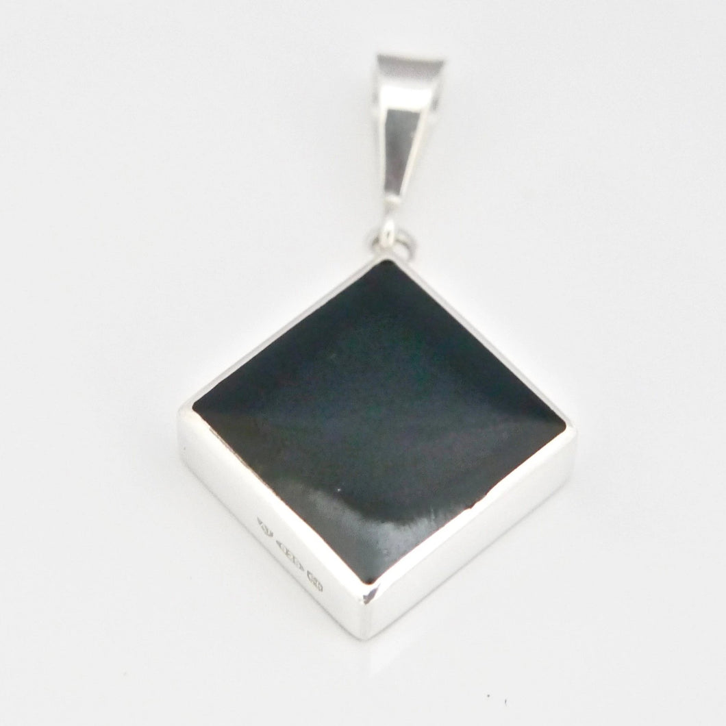 whitby jet silver pendant handmade in the UK
