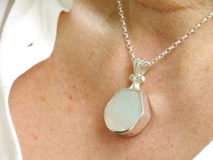 Mother of Pearl Silver Pendant by My Handmade Jewellery