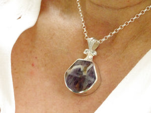 Amethyst Lace Pendant in Sterling Silver by My Handmade Jewellery
