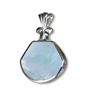 Handmade Mother of Pearl Hallmarked Silver Pendant