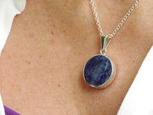 "Load image into Gallery viewer, Goldstone & Sodalite ""Love You"" Silver Pendant"