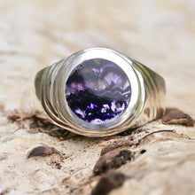 Load image into Gallery viewer, Blue John Signature Gents Ring Silver