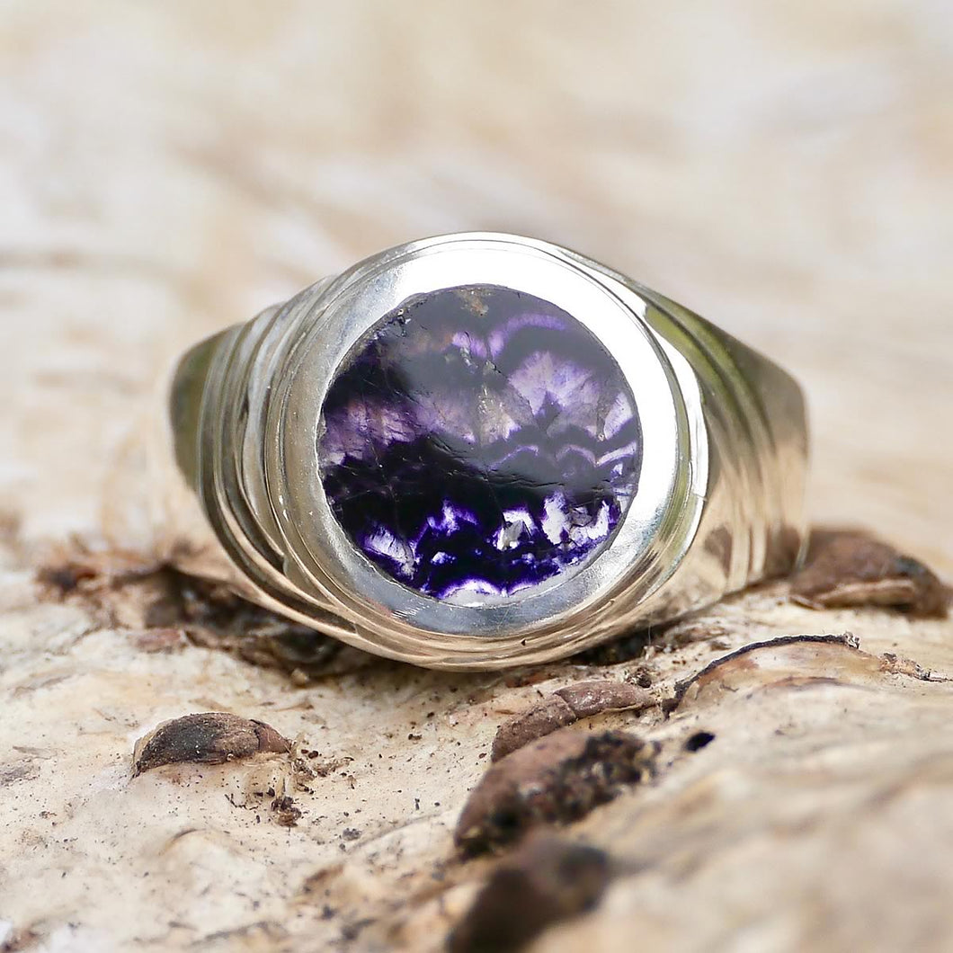 Blue John Signature Gents Ring Silver