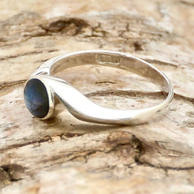 Load image into Gallery viewer, handmade labradorite swirl ring