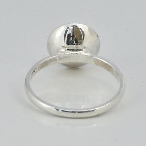 back of round silver ring by my handmade jewellery