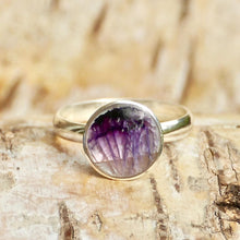 Load image into Gallery viewer, Blue John Round Silver Ring