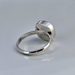 back of silver ring