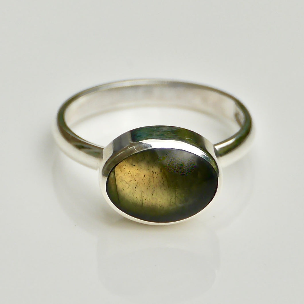 labradorite ring in sterling silver by my handmade jewellery