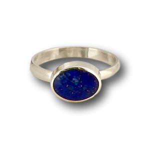 handmade lapis silver ring oval