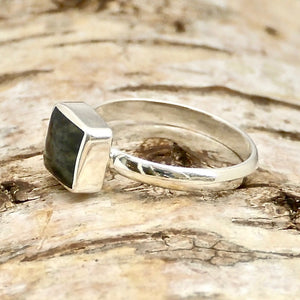 connemara silver ring square design