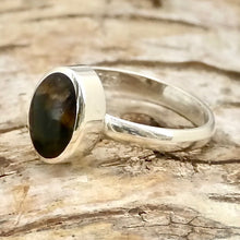 Load image into Gallery viewer, blue john sterling silver ring