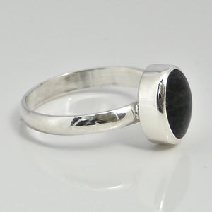 connemara marble ring in sterling silver