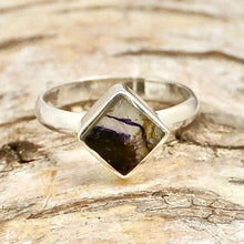Load image into Gallery viewer, blue john sterling silver ring square design