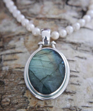 Load image into Gallery viewer, Labradorite & Blue John Double Sided Pendant