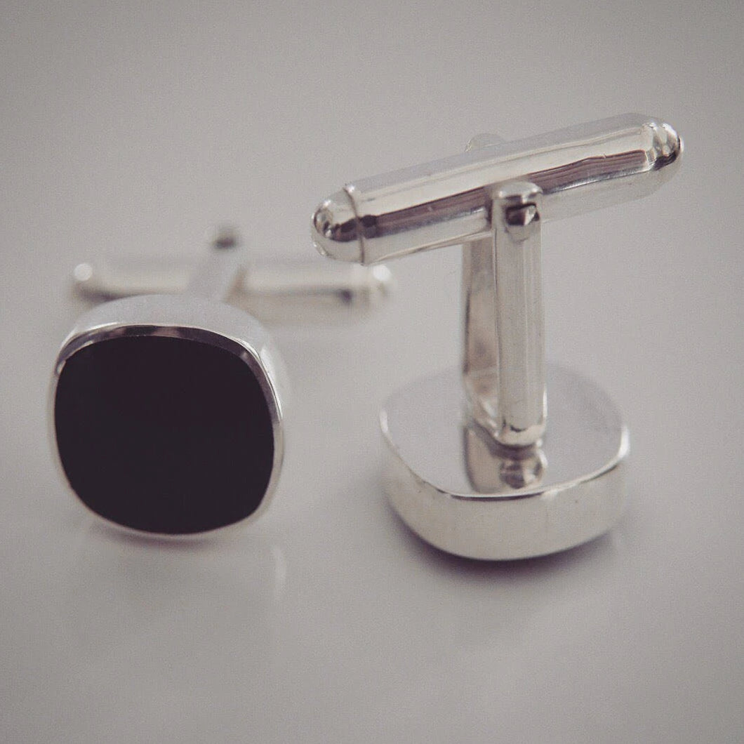 Whitby Jet Cufflinks CF04J