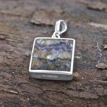 Load image into Gallery viewer, Blue John Pendant Square Design