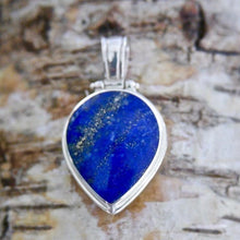 Load image into Gallery viewer, Lapis Lazuli Pendant with Blue John on the reverse side
