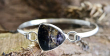 Load image into Gallery viewer, Blue John Silver Tension Bangle