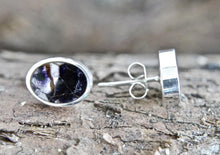 Load image into Gallery viewer, Blue John Oval Stud Earrings