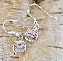 Load image into Gallery viewer, Blue John Drop Earrings Square Design
