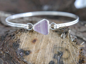Fluorite Tension Bangle Triangle Design