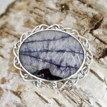 Load image into Gallery viewer, Blue John Brooch Pendant