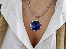 Load image into Gallery viewer, Sodalite & Fluorite Double Sided Pendant