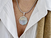Load image into Gallery viewer, Fluorite & Sodalite Double Sided Pendant