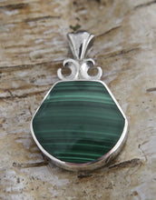 Load image into Gallery viewer, Blue John & Malachite Double-Sided Pendant