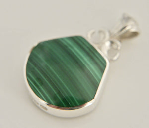 Blue John & Malachite Double-Sided Pendant